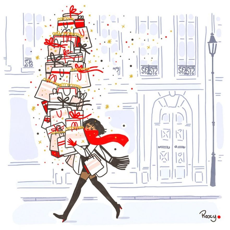 illustration-roxylapassade-christmasgifts.jpg - Roxy LAPASSADE | Virginie