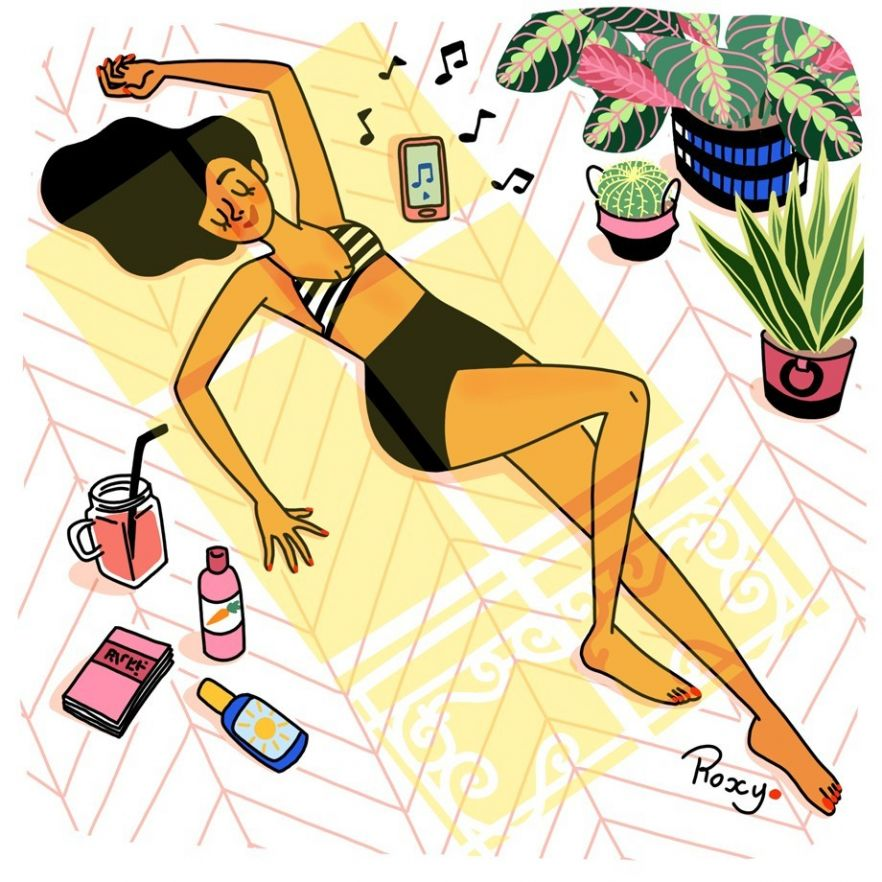 illustration-roxylapassade-sunbath.jpg - Roxy LAPASSADE | Virginie